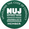 NUJ member - upholds the code of conduct